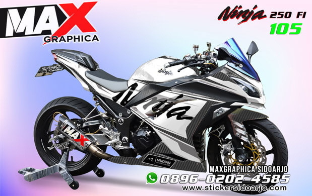 sticker decal ninja 250 maxgraphica cutting sticker sidoarjo