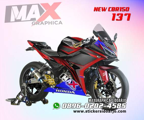 CBR150R facelift maxgraphica cutting sticker sidoarjo